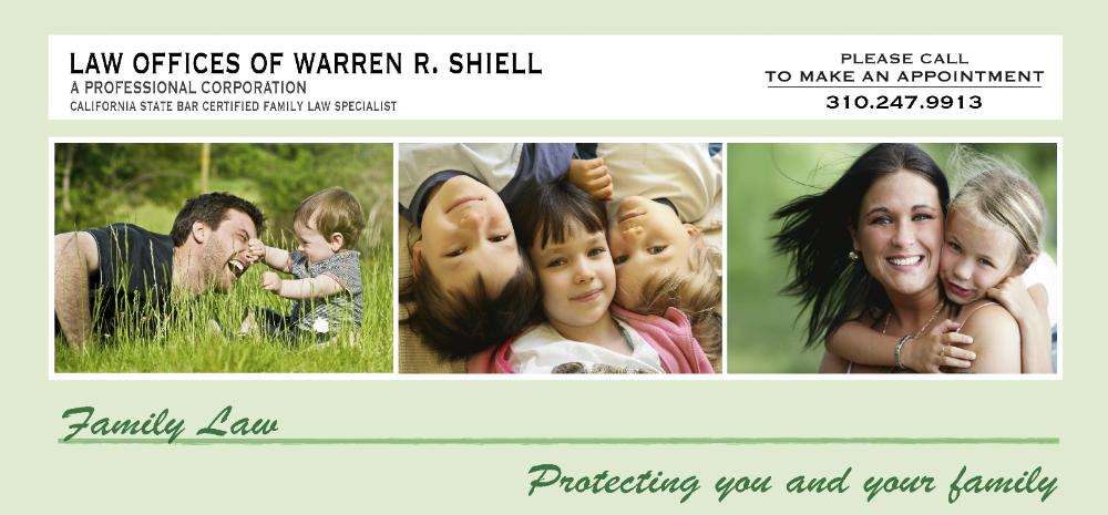 Law Offices of Warren R. Shiell Family Law Divorce Attorney Lawyer Los Angeles